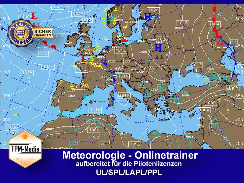 Onlinetrainer Meteorologie für VFR-Piloten